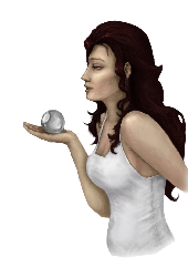 Woman holds a ball illustration